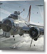 B-17G Hikin' For Home Metal Print