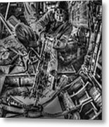 B-24 Bomber Belly Gunner - 1943 Metal Print