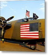 B-24 Bomber - Diamond Lil Metal Print