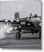 B-25 Mitchell Mk IIi Powers Up Metal Print