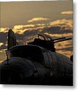B-25 Sunset Metal Print