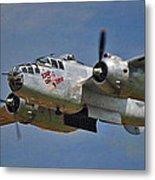 B-25 Take-off Time 3748 Metal Print