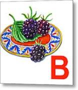 B Art Alphabet For Kids Room Metal Print