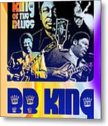 B. B. King Poster Art Metal Print