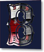 B For Bosox - Boston Red Sox Metal Print by Joann Vitali
