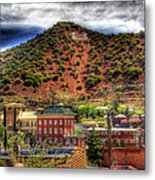 B Hill Over Historic Bisbee Metal Print