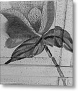 B W Wood Flower Metal Print