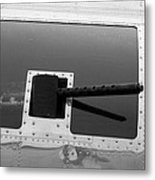 B17 50 Cal Machine Gun Metal Print