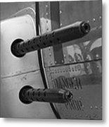 B17 Bomber Side Guns Metal Print