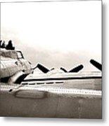 B17 Bomber Wing From Ww II Metal Print