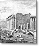 Baalbek Aka Heliopolis, 1845 Metal Print