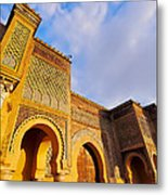 Bab Mansour In Meknes In Morocco Metal Print