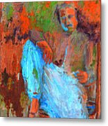 Baba In A Chair Metal Print
