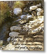 Babbling Brook William Shakespeare Quote Metal Print