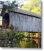 Babbs Covered Bridge In Maine Metal Print