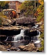 Babcock Grist Mill And Falls Metal Print