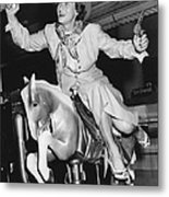 Babe Didrikson On Sidesaddle Metal Print