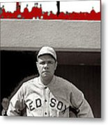 Babe Ruth As Member Of The Boston Red Sox National Photo Company Collection 1919-2013 Metal Print