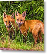 Babes In The Woods 2 - Paint Metal Print