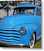 Baby Blue Chevy From 1950 Metal Print