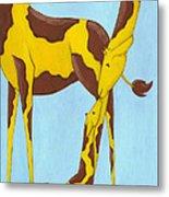Baby Giraffe Nursery Art Metal Print