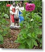 Baby Jesus In Garden Metal Print