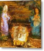 Baby Jesus Silent Night Photo Art Metal Print