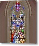 Baby Jesus Stained Glass Window Metal Print