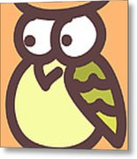 Baby Owl Nursery Wall Art Metal Print