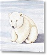 Baby Polar Bear Metal Print