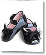 Baby Shoes Metal Print