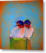 Baby Swallows Metal Print by Sue Jacobi