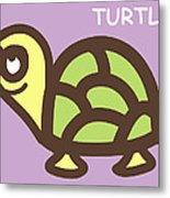 Baby Turtle Nursery Wall Art Metal Print