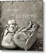 Baby's First Shoes Metal Print
