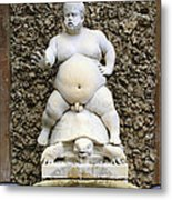 Bacchus Fountain Metal Print