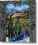 Bacchus Vineyard Metal Print