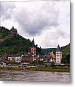 Bacharach Am Rhein And Burg Stahleck Metal Print
