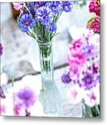 Bachelor Flowers Metal Print