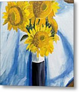 Back Bay Sunflowers Metal Print