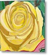 Back Bay Yellow Rose Metal Print