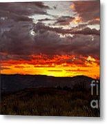 Back Country Sunset Metal Print