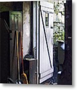 Back Door Of Shop Metal Print