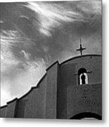 Back Entrance Arch San Xavier Del Bac Mission 1979 Metal Print