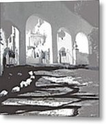 Back North Entrance #1 Of San Xavier Mission Tucson Arizona 1979-2013  Metal Print