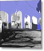 Back North Entrance #2 Of San Xavier Mission Tucson Arizona 1979-2013  Metal Print