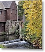 Back Of The Plimoth Grist Mill  Metal Print