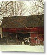 Back Road Barn Metal Print