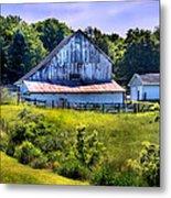 Back Roads Country Barn Metal Print