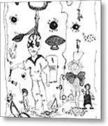 Back Rooms Of My Mind Door 10313 Metal Print