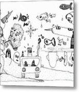 Back Rooms Of My Mind Door 25113 Metal Print